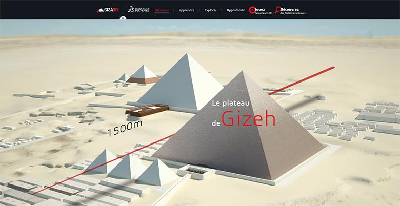 pyramides Gizeh en 3d