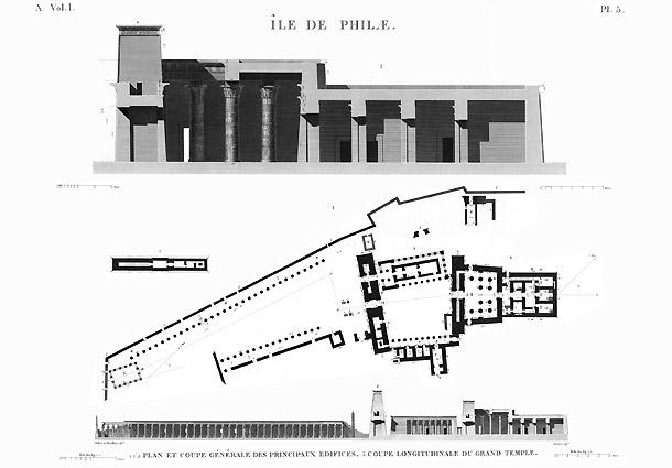 Plan Temple Philae
